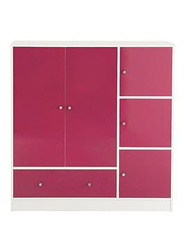 kidspace-cosmo-gloss-wide-wardrobe