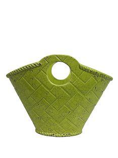 bright-green-ceramic-pot