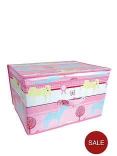 printed-pony-kids-storage-box-large