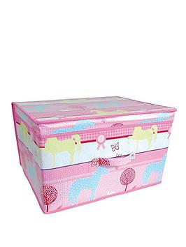 Printed Pony Kids Storage Box  Large