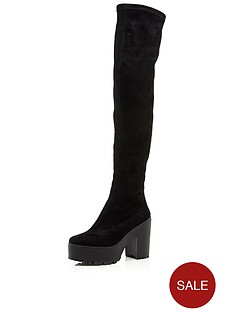 river-island-river-island-dretch-over-the-knee-heeled-ankle-boot