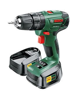 Bosch Psb 1800 Li2 Cordless LithiumIon Hammer Drill Driver With 2 18Volt Batteries