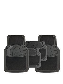 Streetwize Accessories Streetwize Accessories Car Mat Set - Rubber/Carpet Picture