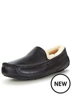 ugg-australia-ascot-leather-slippers-black