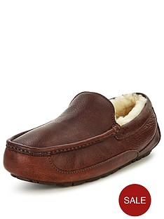 ugg-australia-ascot-leather-slippers-black