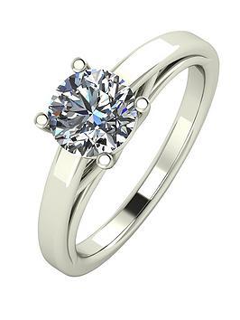 moissanite-premium-collection-9-carat-white-gold-1-carat-round-brilliant-cut-solitaire-ring