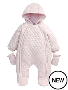 mamas-papas-girls-pink-quilted-pramsuit