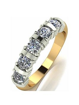 Moissanite Moissanite 9 Carat Yellow Gold 1 Carat Moissanite 5 Stone  ... Picture