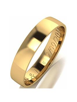 Love GOLD Love Gold Personalised 9 Carat Yellow Gold Court Wedding Band 4Mm Picture