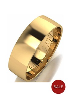 love-gold-personalised-9-carat-yellow-gold-court-wedding-band-6-mm