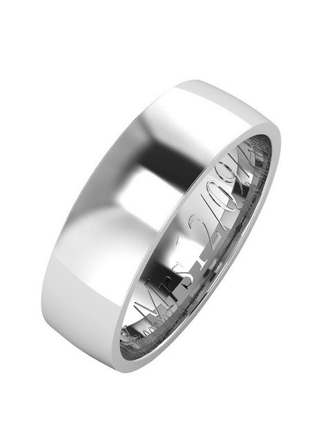 the-love-silver-collection-argentium-silver-wedding-band-6mm-with-optional-engraving