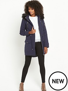 south-petite-pu-trim-faux-fur-parka