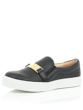 river-island-trim-slip-on-skater-shoe-plimsolls