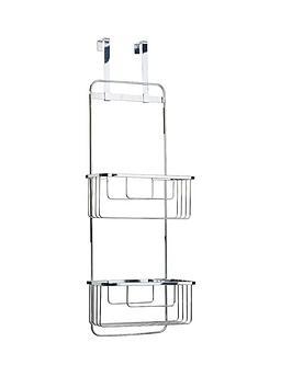 croydex-hook-over-door-double-storage-basket