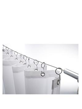 Croydex Croydex Wireline With 12 Shower Curtain Hooks Picture
