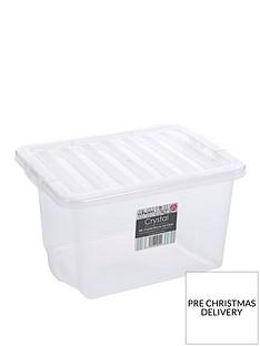 wham-24-litre-clear-plastic-storage-boxes-set-of-4