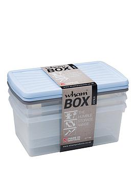 Wham Wham 9 Litre Plastic Storage Boxes (Set Of 3) Picture