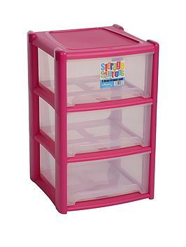 wham-3-drawer-tower-storage-unit-pink