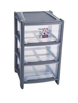 wham-3-drawer-tower-storage-unit-grey