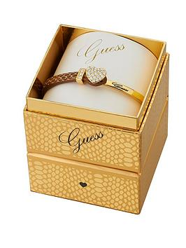 guess-gold-plated-and-leather-crystal-bracelet