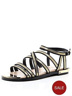 river-island-metallicnbspgladiator-sandal