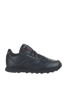 Reebok Reebok Classic Leather Junior Trainers - Black Picture