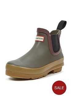 hunter-original-kids-gum-sole-chelsea-boots