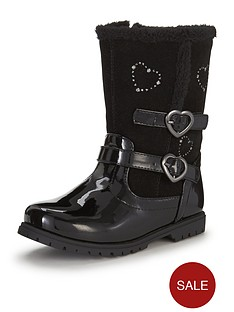 ladybird-younger-girls-mairinbspcomfort-boot-with-exposed-fauxnbspfur