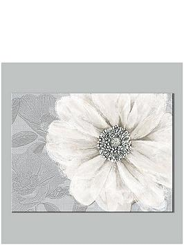 Graham & Brown Graham & Brown Grey Bloom Canvas With Foil Print Picture