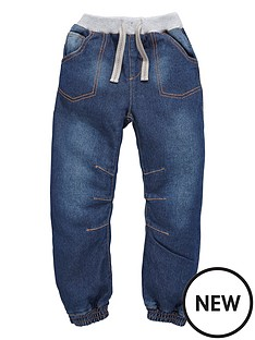 ladybird-boys-dark-wash-cuffed-jeans-with-knitted-waist