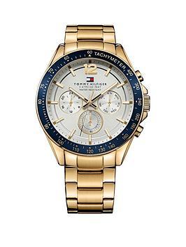Tommy Hilfiger Multi Eye Blue Bezel Bracelet Mens Watch