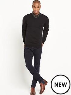 goodsouls-merino-wool-v-necknbspjumper-black