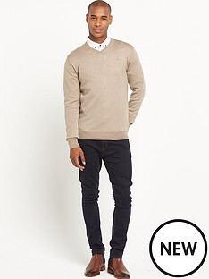 goodsouls-merino-wool-v-neck-jumper-ndash-stone-marl