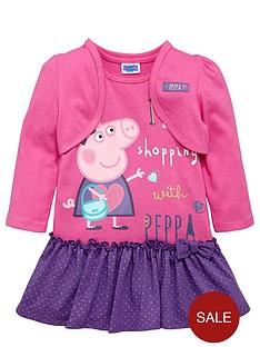 peppa-pig-girls-peppanbsppig-dress-with-shrug-set-2-piece