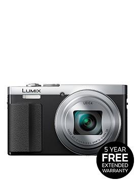panasonic-lumix-dmc-tz70eb-s-digital-camera-hd-1080p-121-megapixel-30xnbspoptical-zoom-nfc-wi-fi-manual-control-ring-evf-3-inchnbsplcdnbspscreen-silver