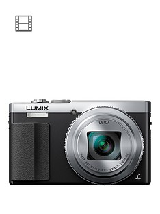 panasonic-lumix-dmc-tz70eb-s-digital-camera-hd-1080p-121-megapixel-30xnbspoptical-zoom-nfc-wi-fi-manual-control-ring-evf-3-inchnbsplcdnbspscreen-silvernbspsave-pound20-with-voucher-code-lxk3t