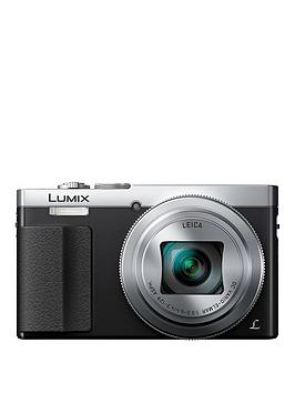 Panasonic Lumix DmcTz70EbS Digital Camera Hd 1080P 12.1 Megapixel 30X Optical Zoom Nfc WiFi Manual Control Ring Evf 3 Inch Lcd Screen  Silver