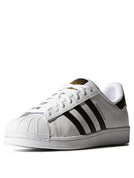Adidas Originals Superstar Trainers  WhiteBlack