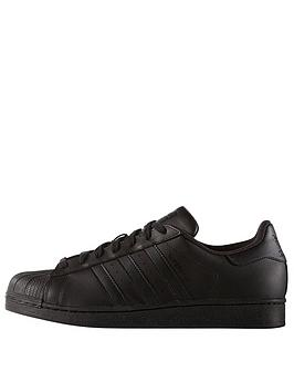 Adidas Originals Superstar Foundation Trainers  BlackWhite