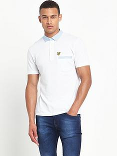 lyle-scott-fabric-mixed-collar-polo-shirt
