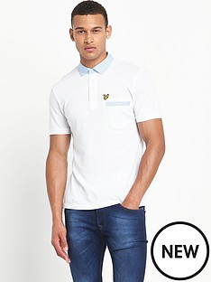 lyle-scott-lyle-amp-scott-fabric-mixed-collar-polo-shirt