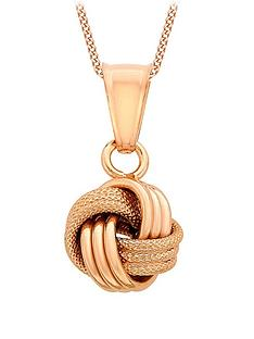 love-gold-9-carat-rose-gold-knot-pendant