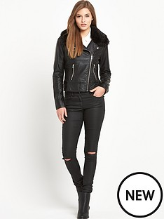 south-faux-fur-leather-look-jacketnbsp