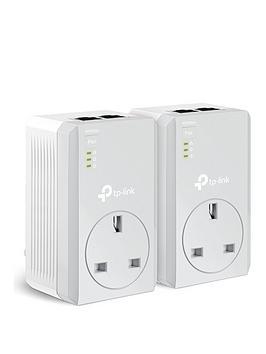 tp-link-internet-extender-tl-pa4020pkit-av-600mpbs-passthrough-powerline-starter-kit