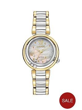 citizen-eco-drive-sunrise-diamond-two-tone-stainless-steel-bracelet-ladies-watch