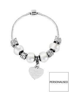 personalised-silver-tone-ice-white-charm-bracelet