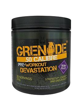 GRENADE Grenade 50. Calibre Pre Workout Energy Boost Powder 232G - Berry  ... Picture