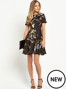 ted-baker-oriental-floral-skater-dress
