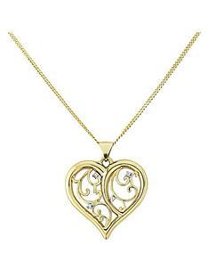 love-gold-9-carat-yellow-gold-diamond-set-heart-filigree-pendant