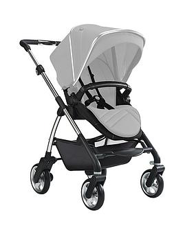 silver-cross-wayfarer-pushchair-with-seat-unit-carrycot-and-chrome-chassis